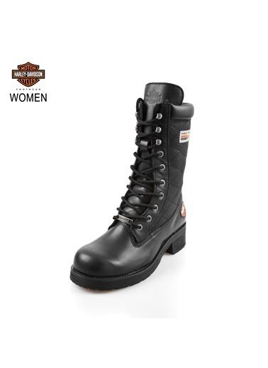 Harley Davidson Deri Çizme Siyah